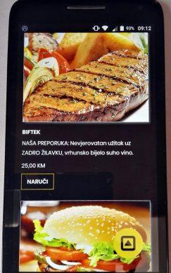 Dio ekrana gosta sa preporukom - mobitel verzija